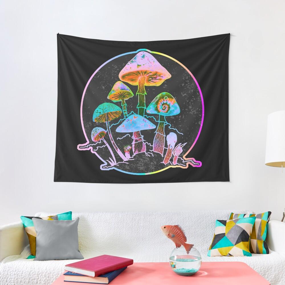 Garden of Shrooms 2020 Tapestry