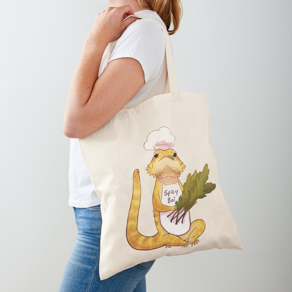 Here comes a Spicy Boy Tote Bag