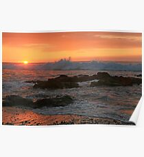 Kua Bay Sunset Poster
