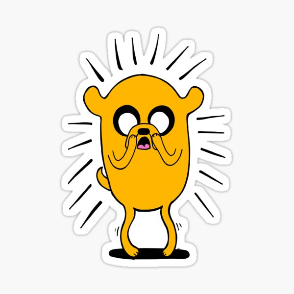 Adventure Time - Jake the Dog In Shock (Color) Sticker