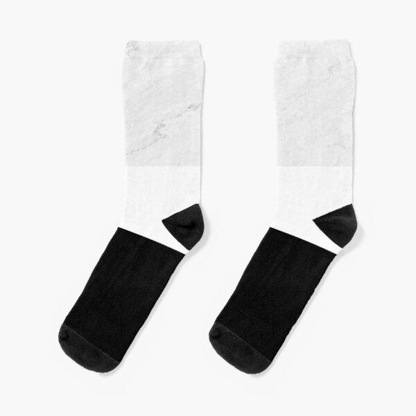 Marble Black White Color Block Modern Geometry Socks