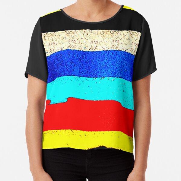 Colourful Horizontal Stripes  Chiffon Top