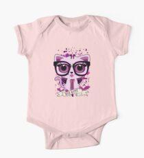 Nice Kitty - Black & Purple Kids Clothes