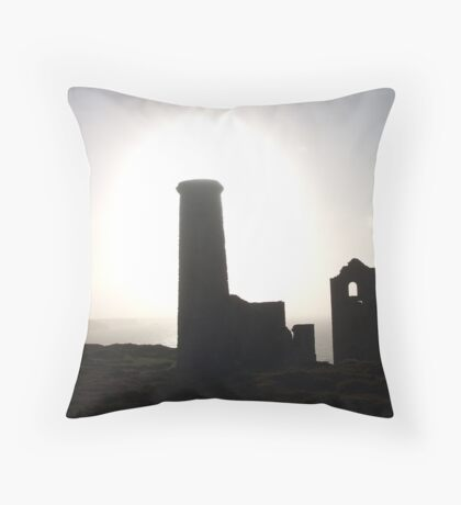 Lost Halos....Wheal Coates, Cornwall. Throw Pillow