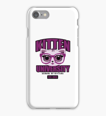Kitten University - Purple iPhone Case/Skin