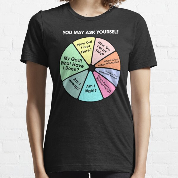 80's Music Retro Lyrics - You May Ask Yourself Pie Chart Essential T-Shirt