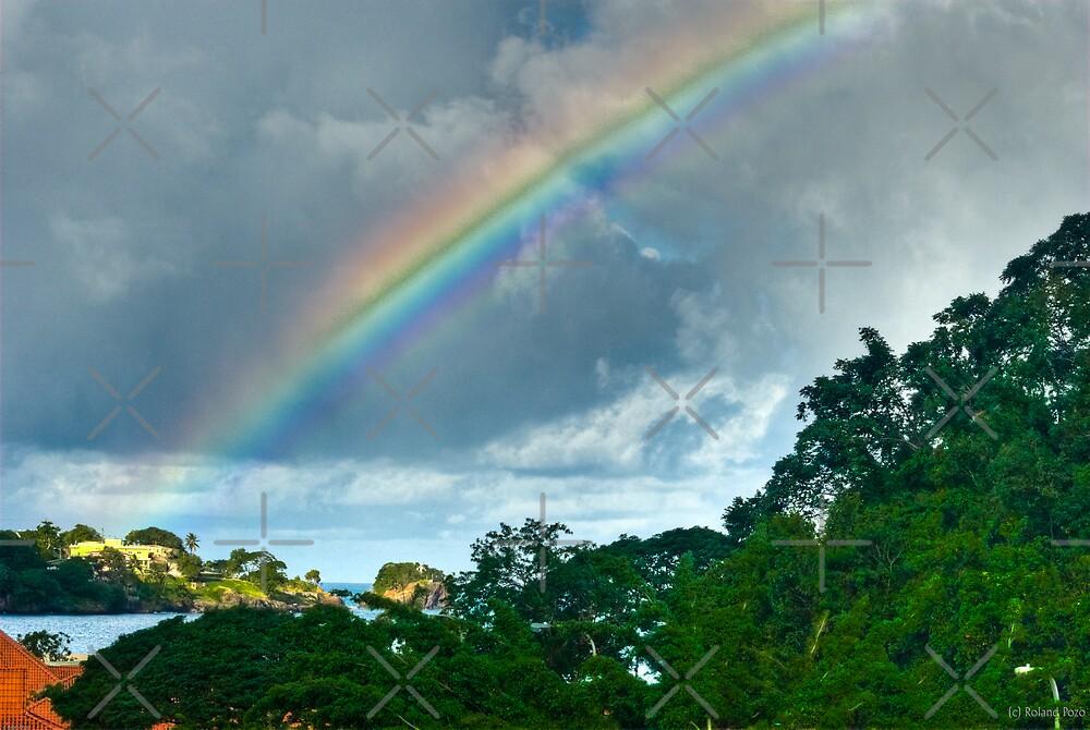 Rainbow over Castries by photorolandi