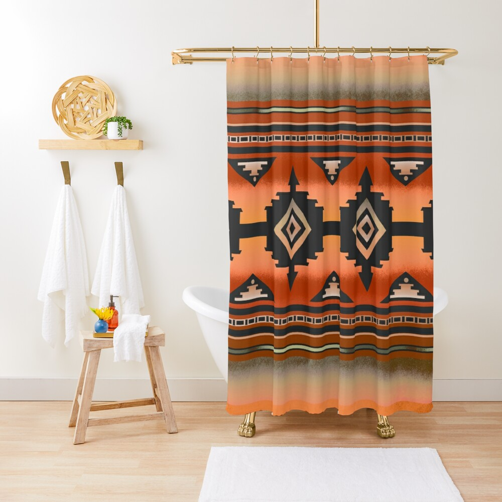 Canyon | Navajo Rust Shower Curtain