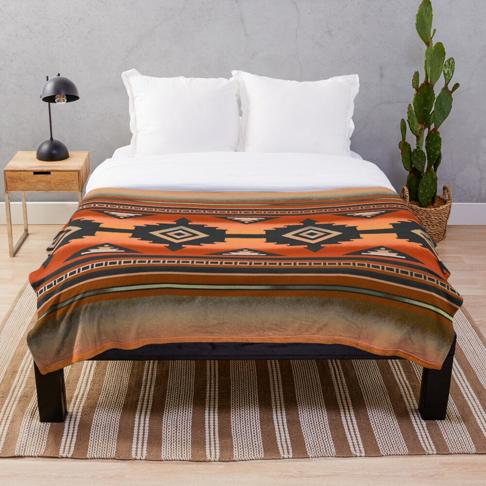 Canyon | Navajo Rust Throw Blanket
