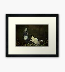"""Playing Butterflies in the Garden..."" Framed Print"