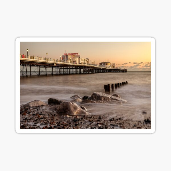 Worthing Pier Sunset Sticker