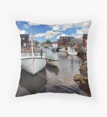 Fisherman's Cove, Eastern Passage Throw Pillow