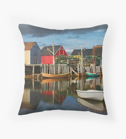 Reflections at Blue Rocks Throw Pillow