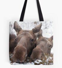 Christmas Moose Tote Bag