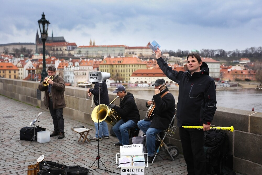 Band in Prague  by MichaelCui