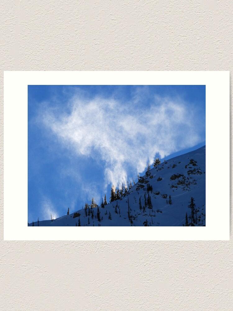 Alternate view of White Fire on the Mountain Art Print