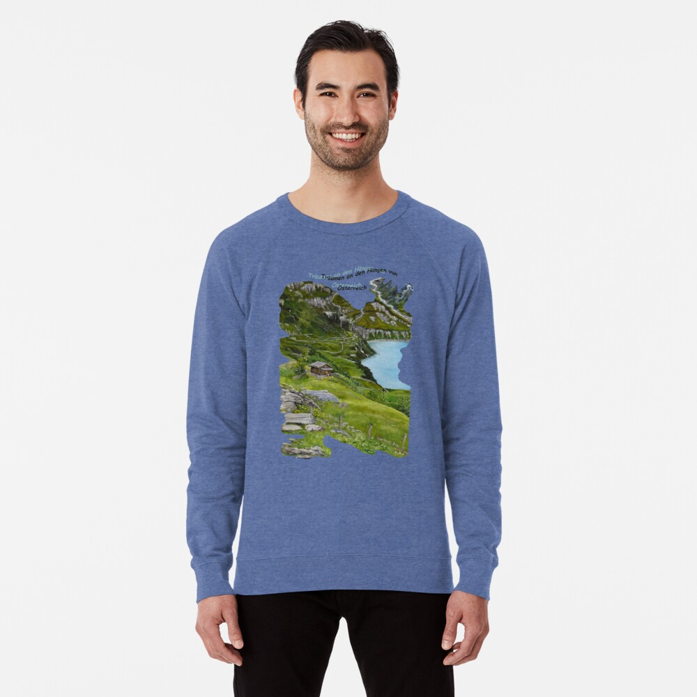Dreaming along the slopes of Austria Lightweight Sweatshirt