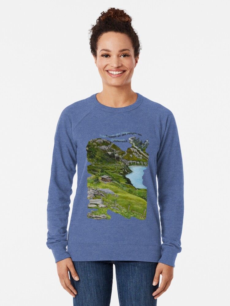 Alternate view of Dreaming along the slopes of Austria Lightweight Sweatshirt