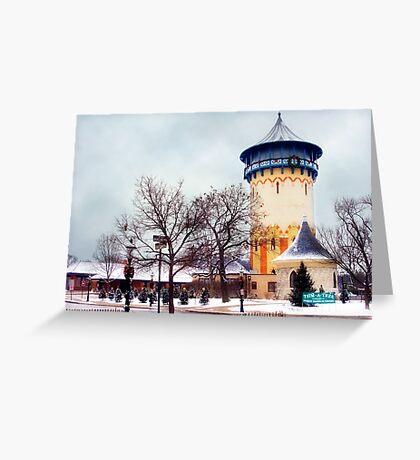 Winter Water Tower, Riverside, Illinois Greeting Card