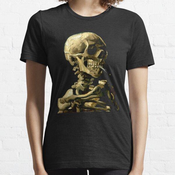 Vincent van Gogh squelette crâne fumer cigarette art amateur cadeau t-shirt ou masque T-shirt essentiel