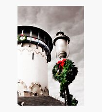 Holiday Water Tower, Riverside, Illinois Photographic Print
