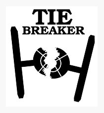 TIE BREAKER black Photographic Print