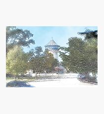 Summer Water Tower, Riverside, Illinois Photographic Print