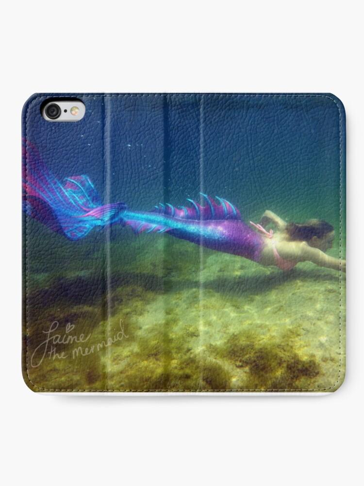 Alternate view of Laptop & Phone Accessories, Hardcover Journal: Jaime the Mermaid Underwater iPhone Wallet