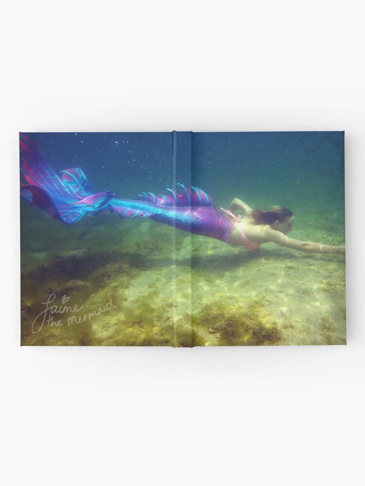 Alternate view of Laptop & Phone Accessories, Hardcover Journal: Jaime the Mermaid Underwater Hardcover Journal