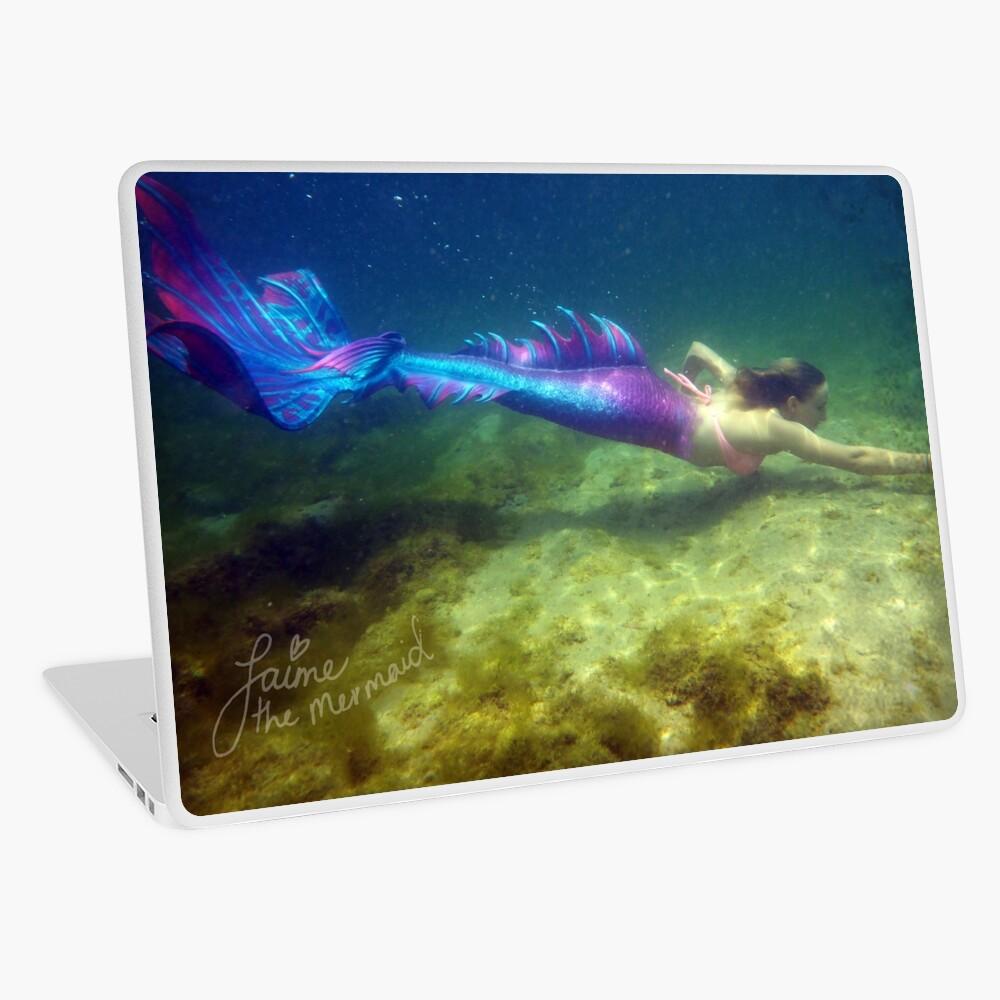 Laptop & Phone Accessories, Hardcover Journal: Jaime the Mermaid Underwater Laptop Skin