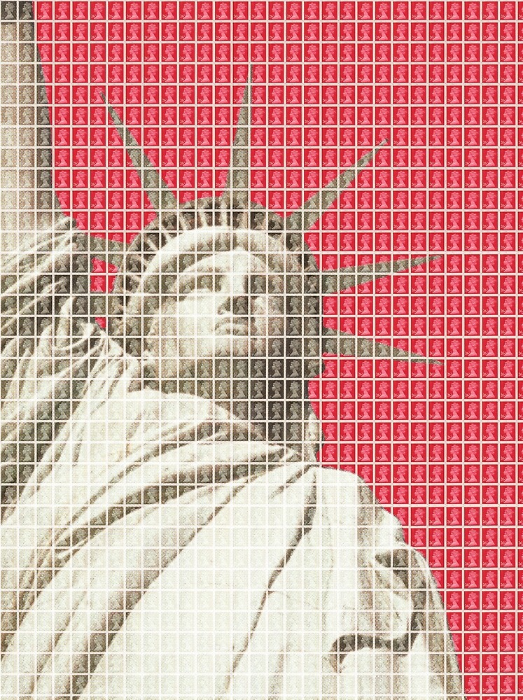 Liberty on Red by Gary Hogben