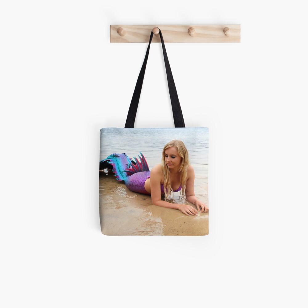Jaime the Mermaid at the Beach Tote Bag