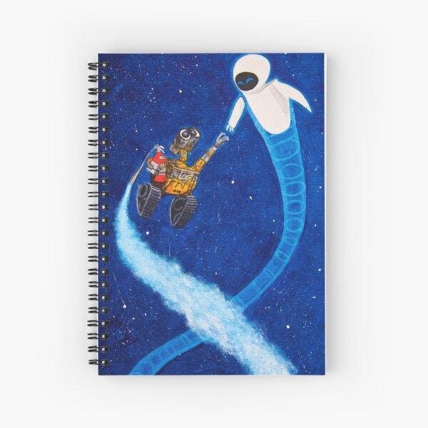 Wall-e y Eve pintando Cuaderno de espiral