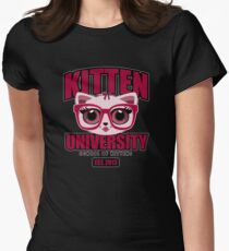 Kitten University - Pink 2 Womens Fitted T-Shirt