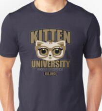 Kitten University - Brown Unisex T-Shirt