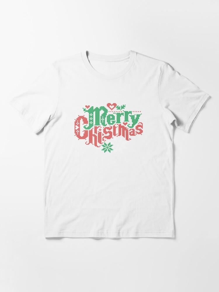 Vista alternativa de Camiseta esencial Merry Christmas