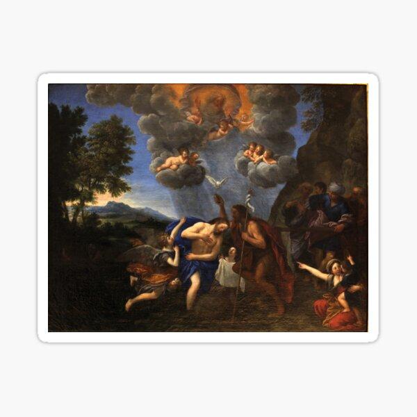 Francesco Albani - Baptism of Christ - Circa 1630 - Painting Sticker