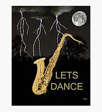 SAX LETS DANCE Photographic Print