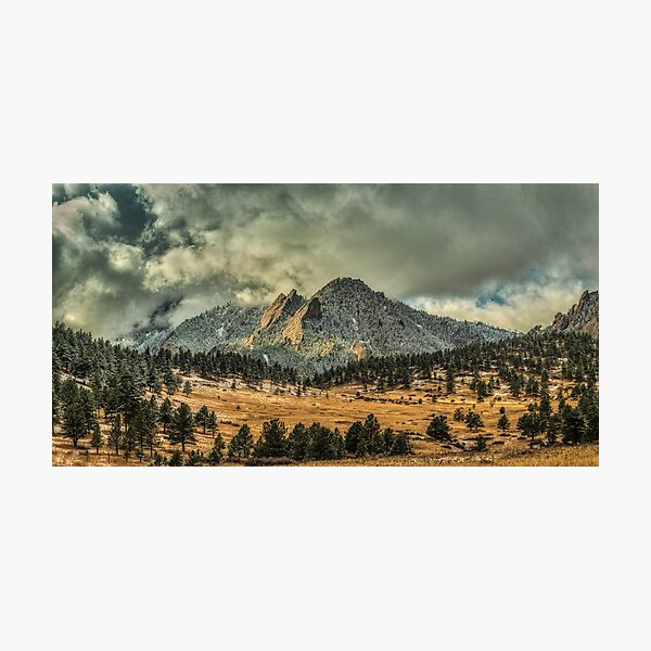 Bear Peak And October Clouds Photographic Print