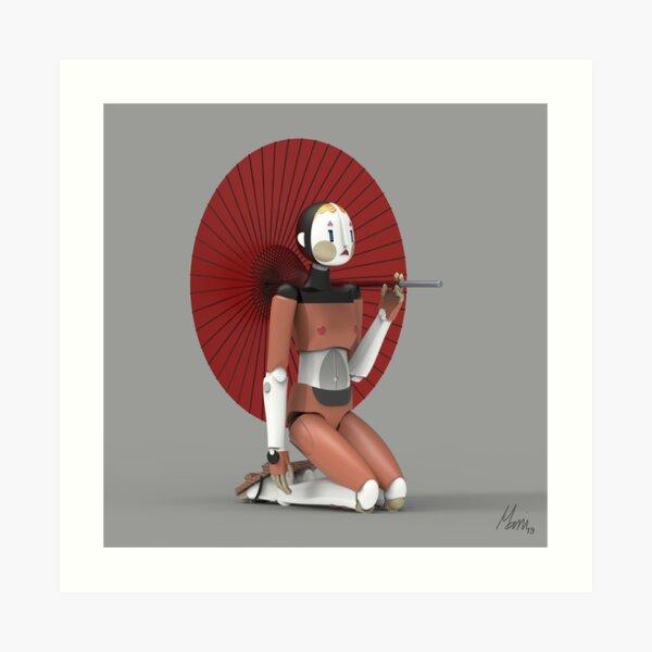 Miss.Nono and umbrella  Art Print