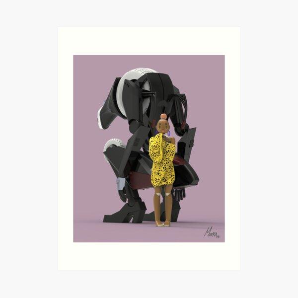 Hana and the beast Art Print