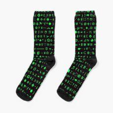 Esoteric symbols socks - Unicode special characters - screen/green Socks