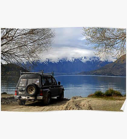 On the way to Glenorchy from Queenstown. South Island, New Zealand. Poster