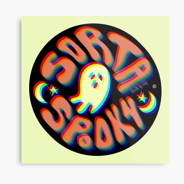 Sorta Spooky © 3D Metal Print