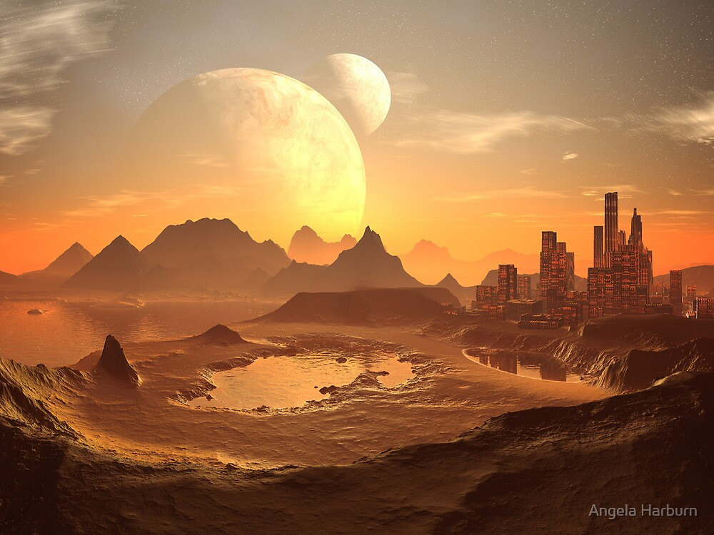 Two Moons over New Cairo by Angela Harburn