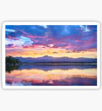 Colorful Sky Into The Rocky Mountain Night Sticker