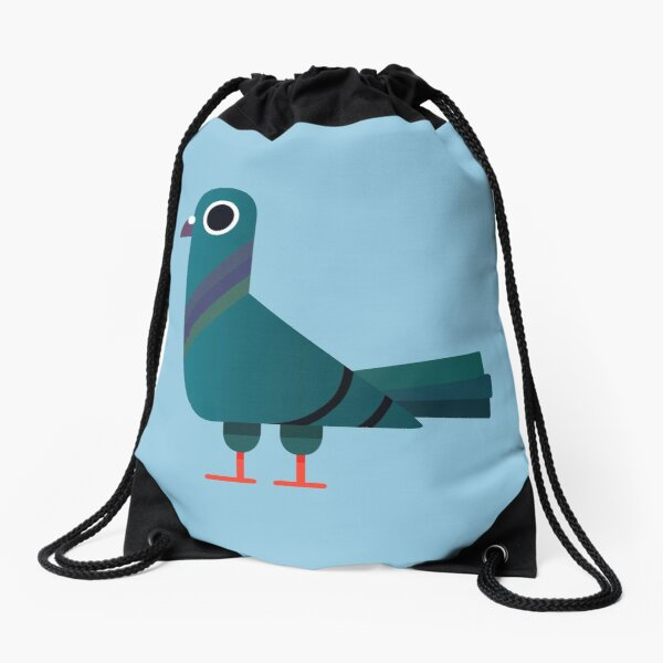 Pigeon Drawstring Bag