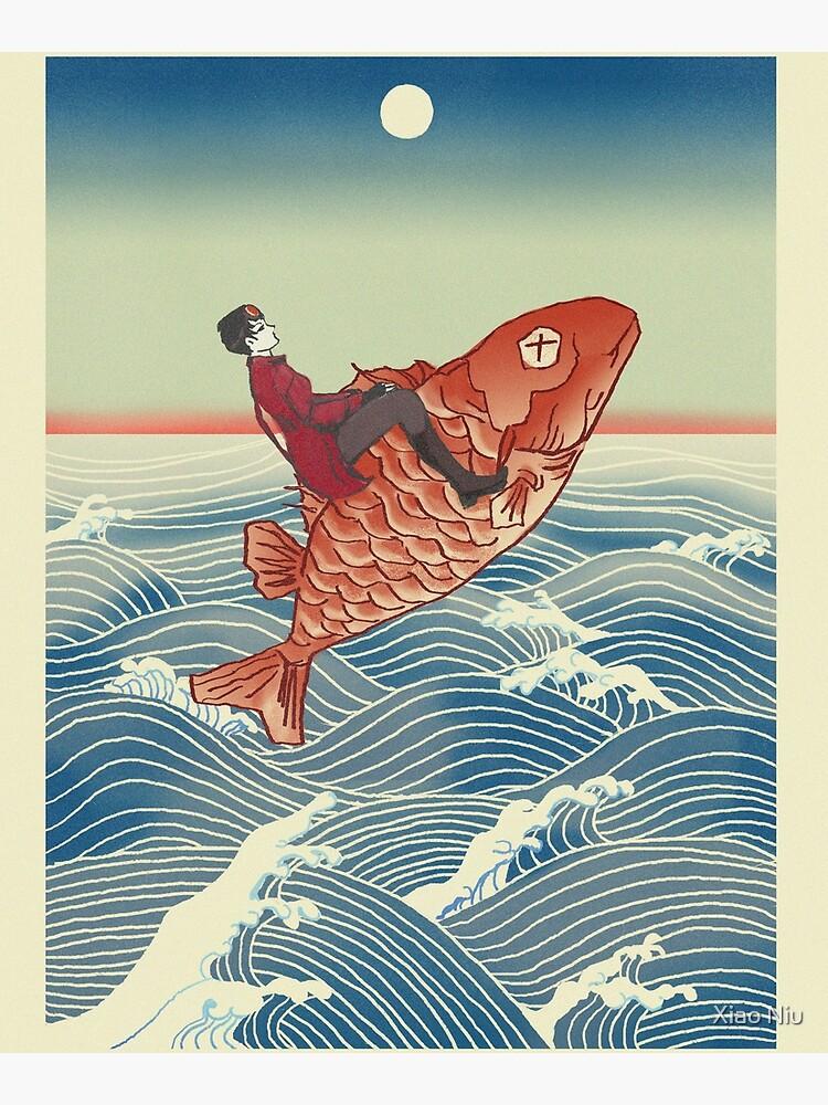 Tannis Rides the Fish by xniu