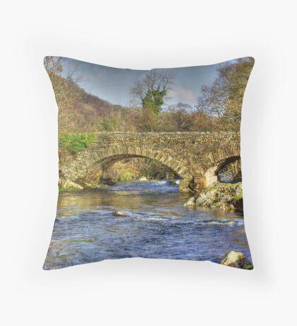 River Duddon Bridge - Lake District Throw Pillow