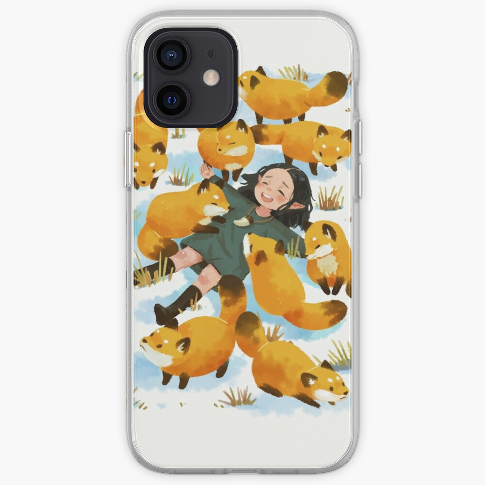 Snuggles with foxes iPhone Case & Cover